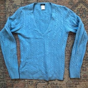 J.Crew wool blue cable knit sweater XS
